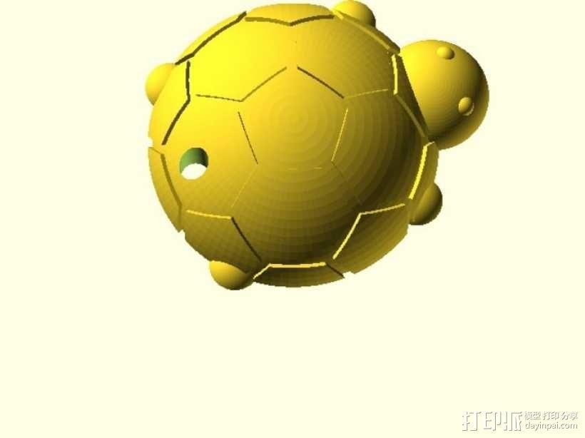 乌龟钥匙扣  3D模型  图1