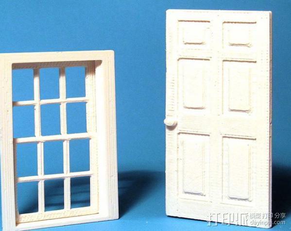 窗户和门 3D模型  图1