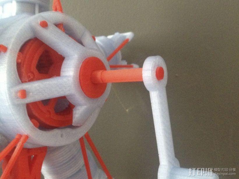 手动曲柄 3D模型  图1