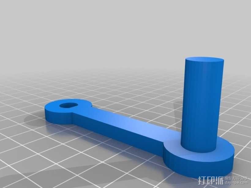手动曲柄 3D模型  图2