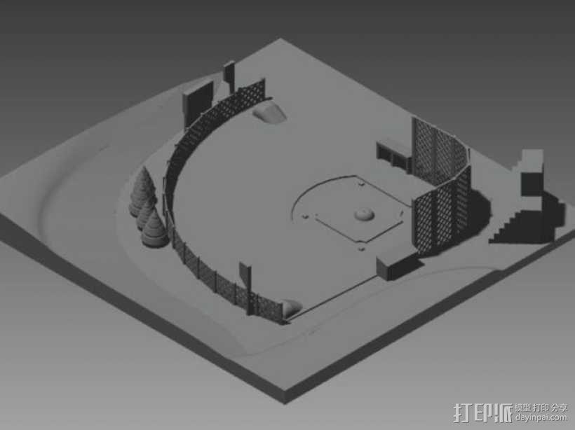 棒球场地 3D模型  图1