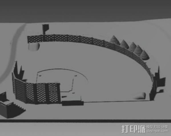 棒球场地 3D模型  图3