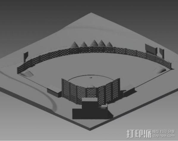 棒球场地 3D模型  图4