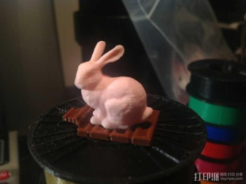 复活节兔子和块状糖 3D模型  图1
