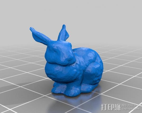 复活节兔子和块状糖 3D模型  图5