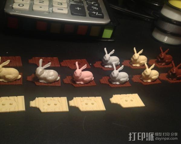 复活节兔子和块状糖 3D模型  图3