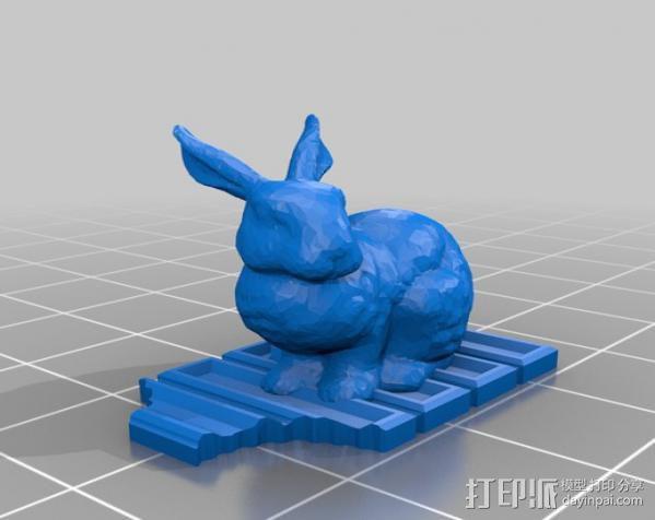 复活节兔子和块状糖 3D模型  图4