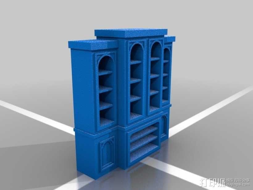 书柜 橱柜 3D模型  图1