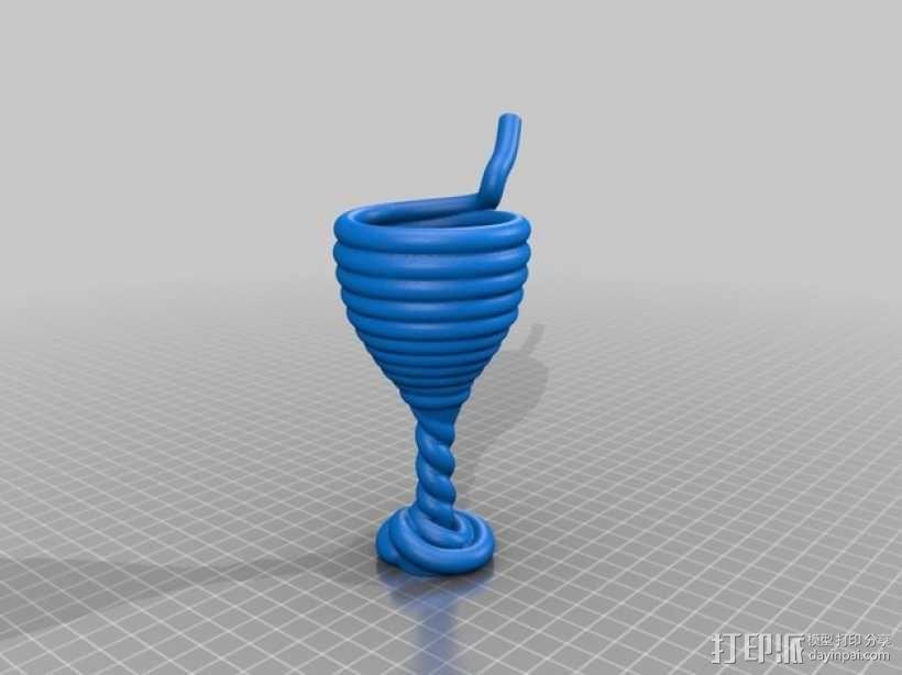 吸管杯 3D模型  图1