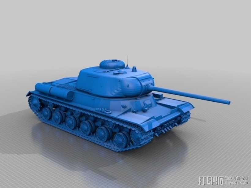 IS-1重型坦克 3D模型  图1
