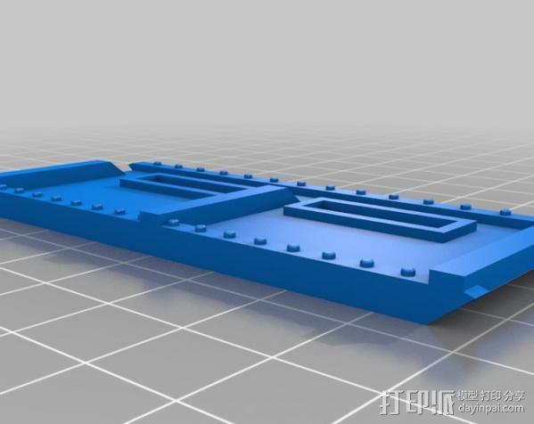 战争游戏防护墙 3D模型  图2