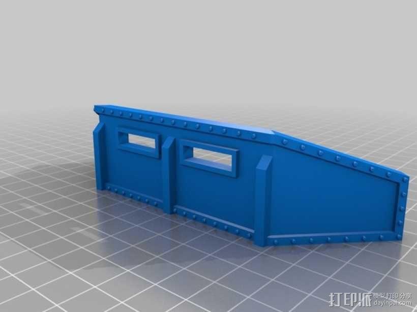 战争游戏防护墙 3D模型  图1