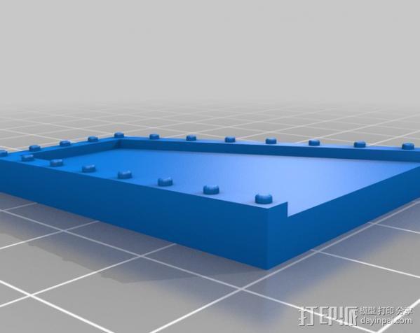 战争游戏防护墙 3D模型  图4
