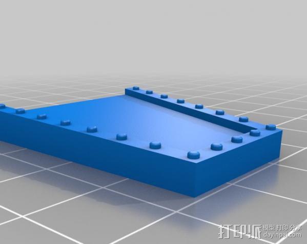 战争游戏防护墙 3D模型  图3