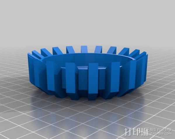 能量环盖帽 3D模型  图1