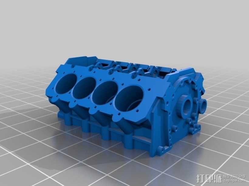 V8发动机 3D模型  图2