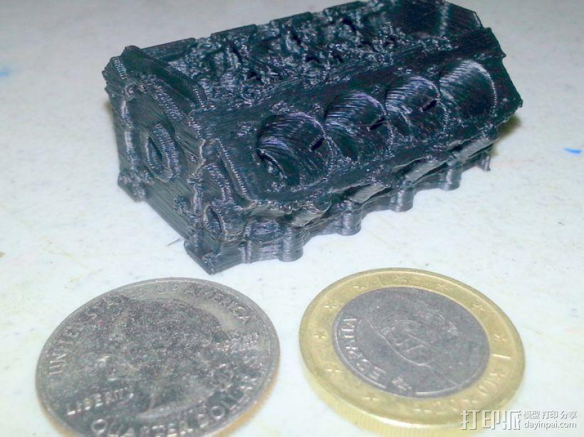 V8发动机 3D模型  图1
