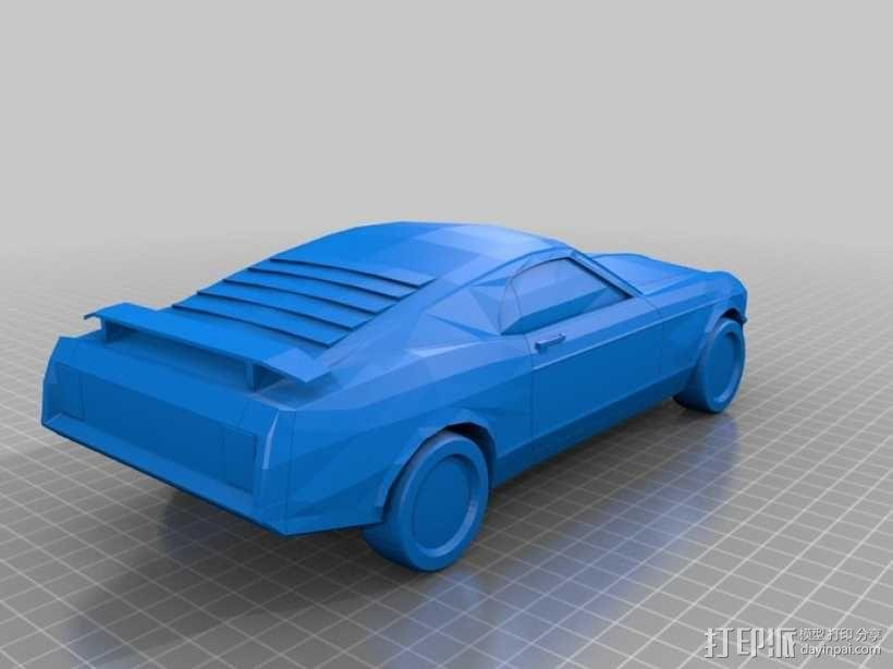 福特Mustang汽车 3D模型  图1