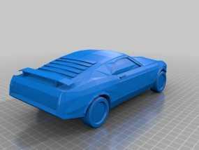 福特Mustang汽车 3D模型