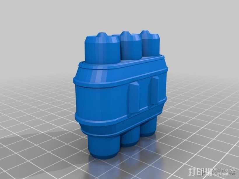 电池组套 3D模型  图1