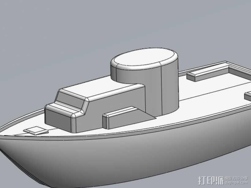 玩具船 3D模型  图1