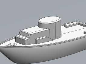玩具船 3D模型