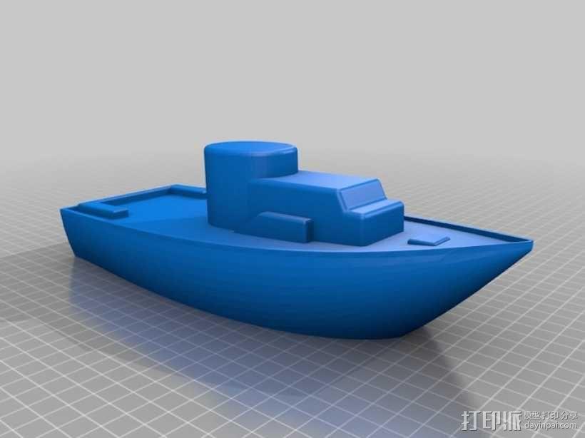 玩具船 3D模型  图2