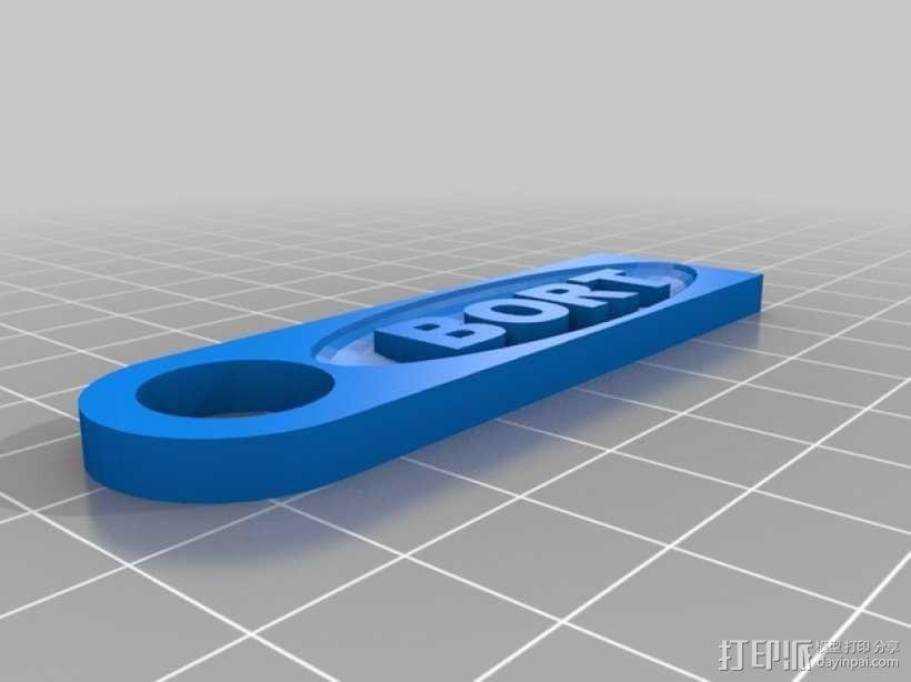BORT车牌照 3D模型  图2