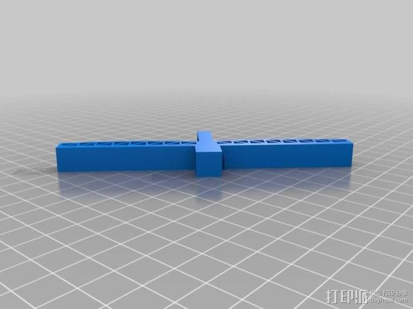 悬索桥模型 3D模型  图1