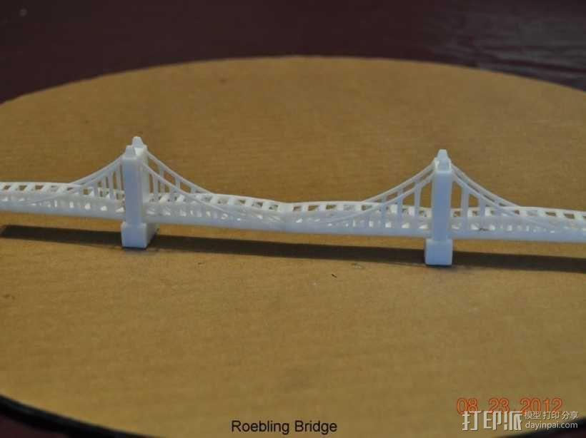 悬索桥模型 3D模型  图3