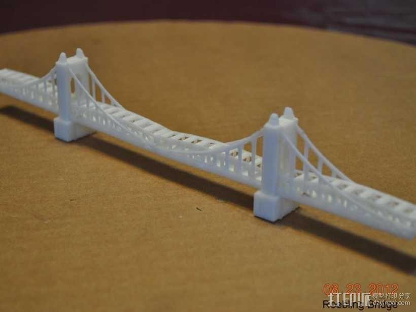 悬索桥模型 3D模型  图4