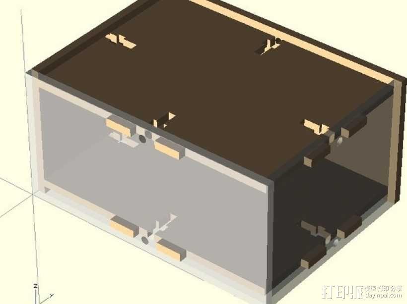 参数化激光切割盒子 3D模型  图1