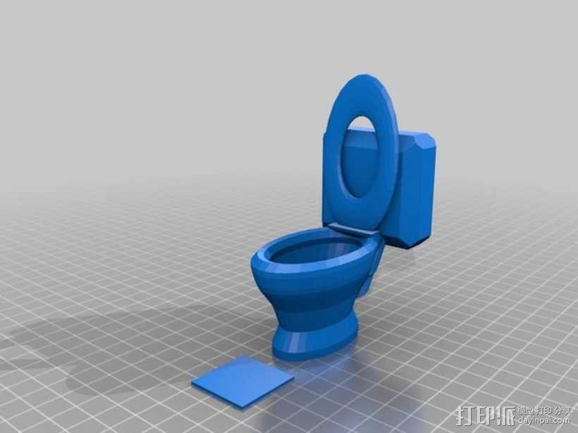 马桶  3D模型  图1