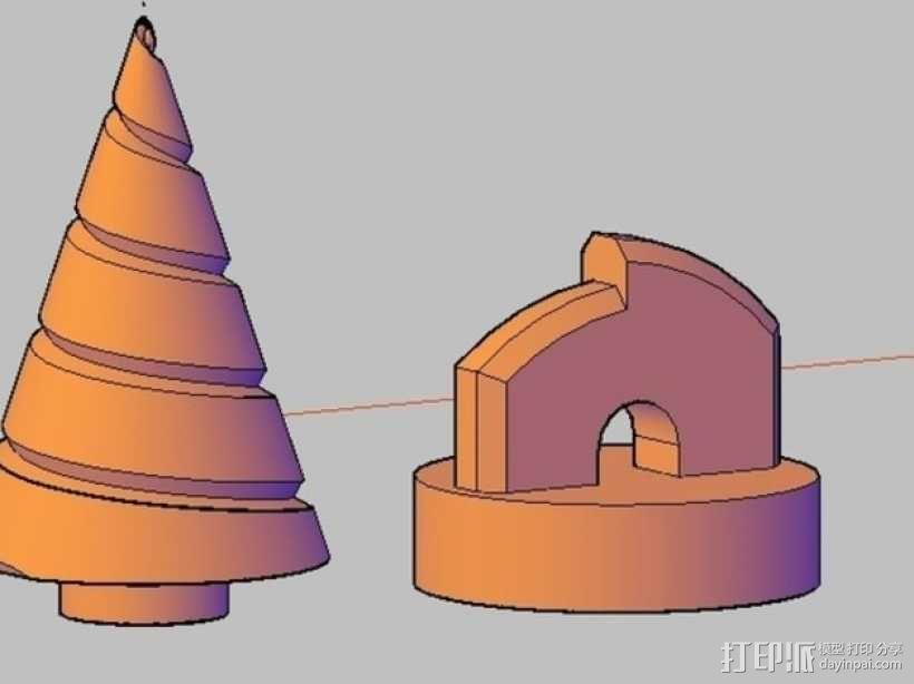 锥形螺旋钻 3D模型  图1
