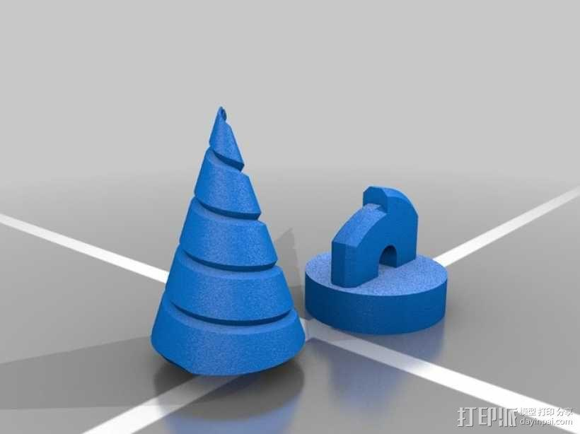 锥形螺旋钻 3D模型  图2