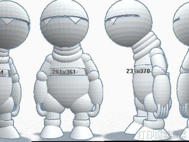 机器人马文 3D模型  图3