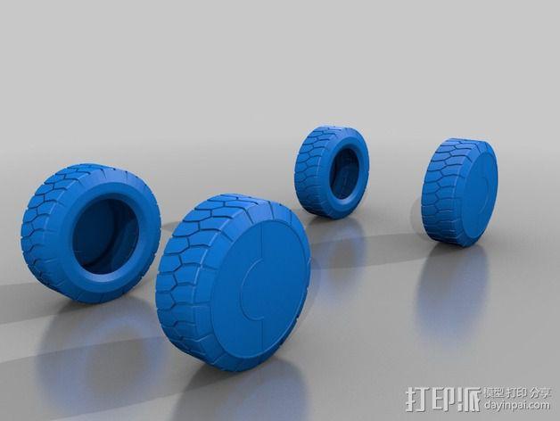 APC汽车车轮 3D模型  图1