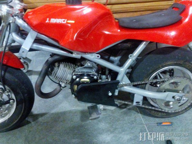 摩托车护链罩 3D模型  图1