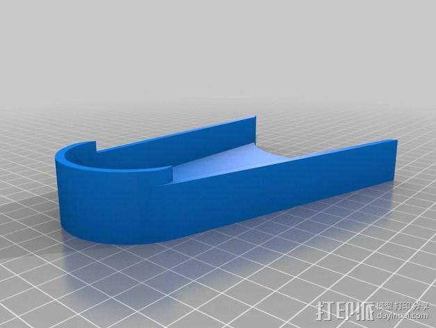摩托车护链罩 3D模型  图2