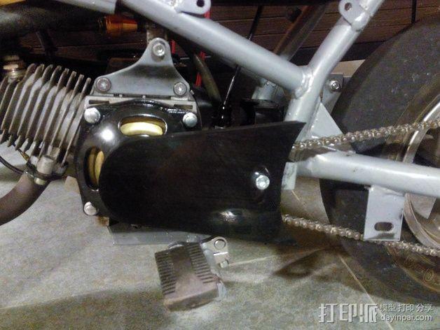 摩托车护链罩 3D模型  图3