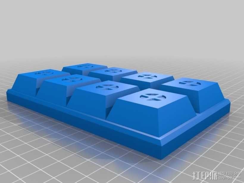 巧克力块 3D模型  图1