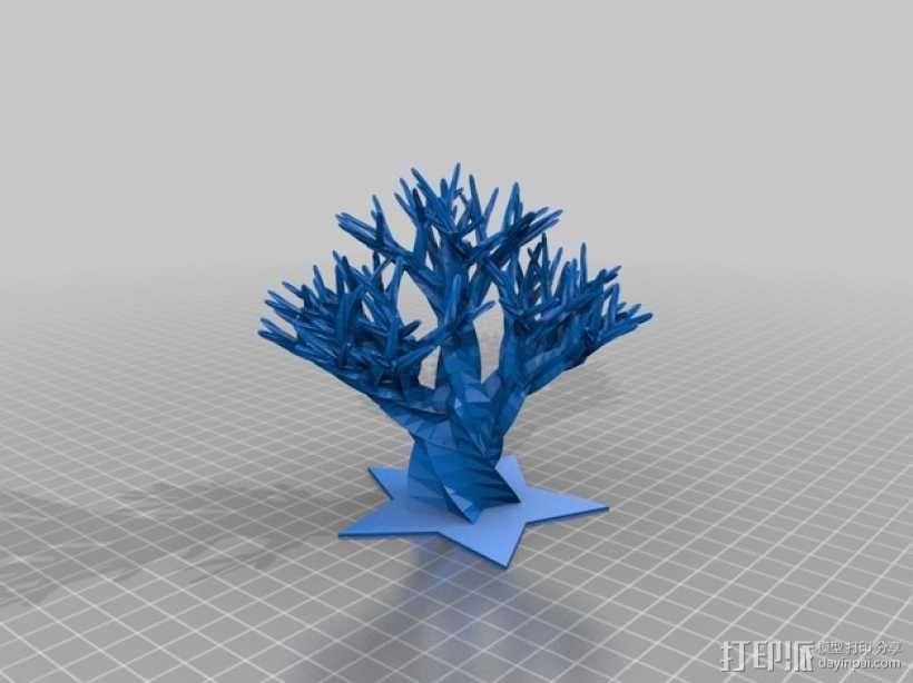 巨大的柳树 3D模型  图1