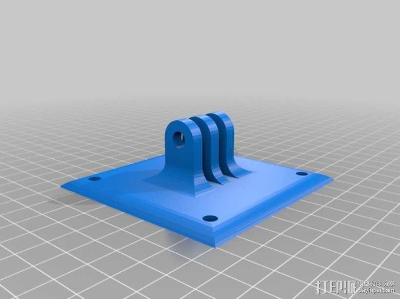电视支架 3D模型  图1
