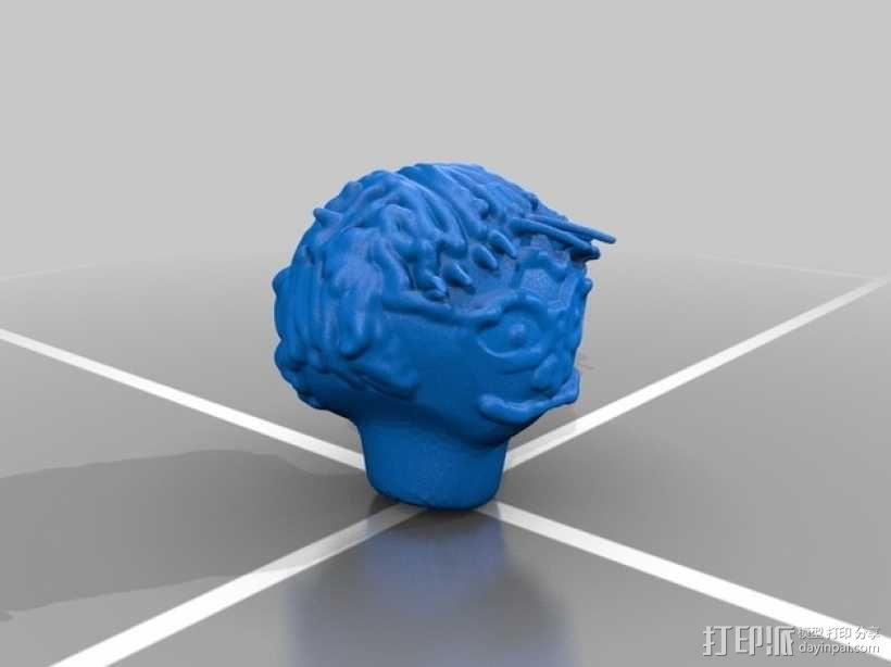 哈利波特头像 3D模型  图2