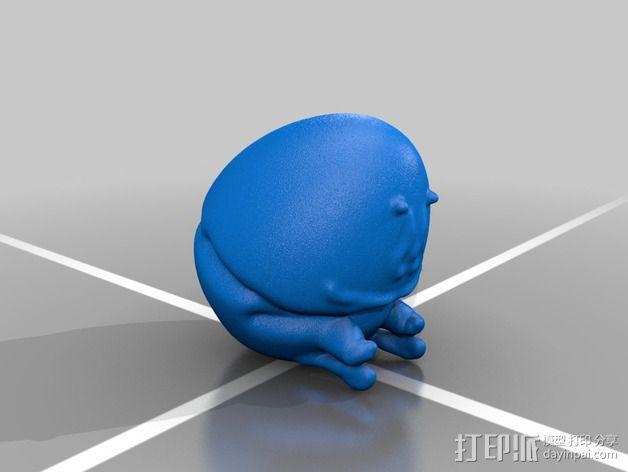 矮胖子 3D模型  图1