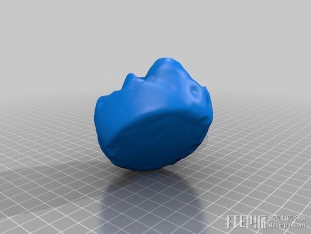 新鲜的草莓蛋挞 3D模型  图2