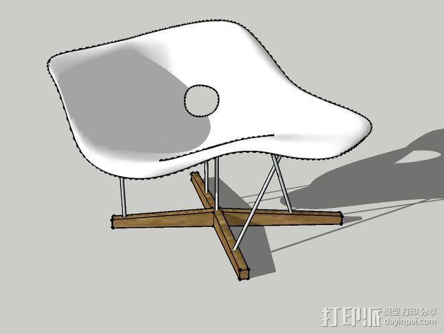 贵妃椅 3D模型  图2