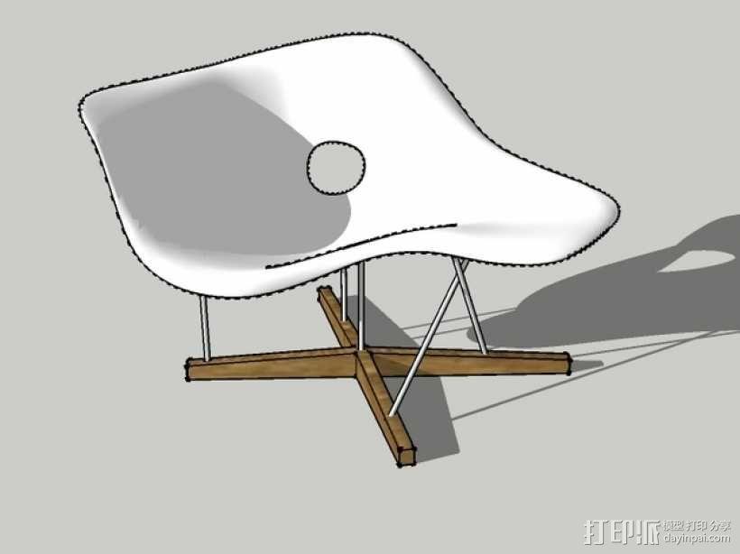 贵妃椅 3D模型  图1