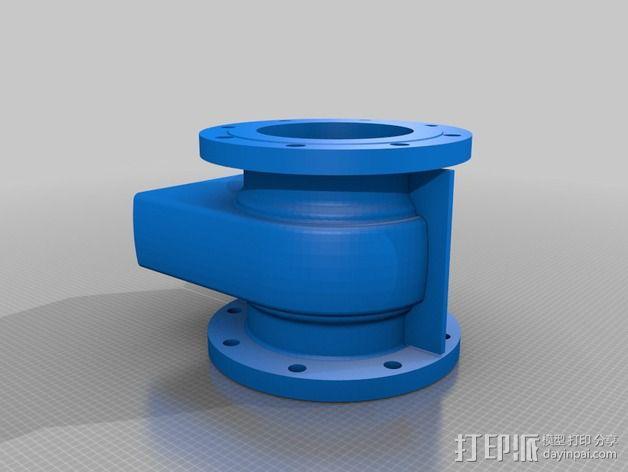 中亚闸阀 3D模型  图2