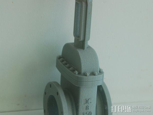 中亚闸阀 3D模型  图1
